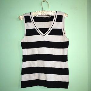 Vintage Jeanne Pierre Preppy Sleeveless Knit Top